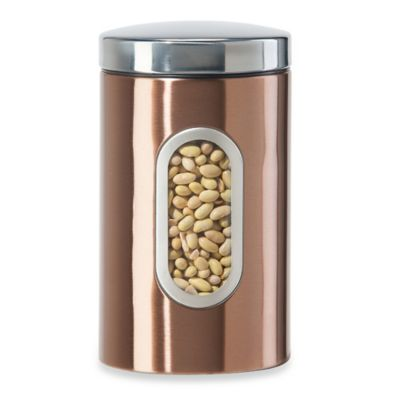 Oggi™ 49 oz. Canister with Window in Copper