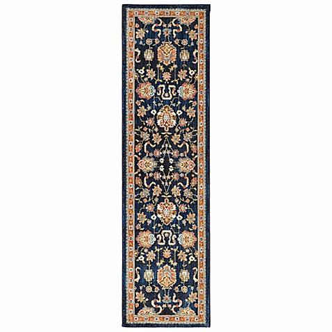 Karastan market spice zargos area rug in sapphire www for Door mats argos