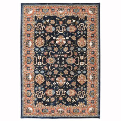 Karastan Market Spice Zargos 3-Foot 4-Inch x 5-Foot 4-Inch Area Rug in Sapphire