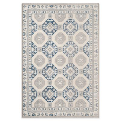 Safavieh Patina Tiles 8-Foot x 10-Foot Area Rug in Blue/Ivory