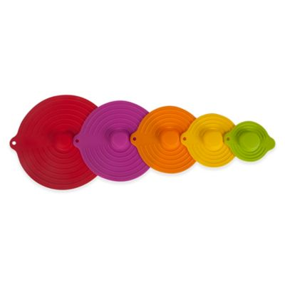 5-Piece Silicone Suction Lids