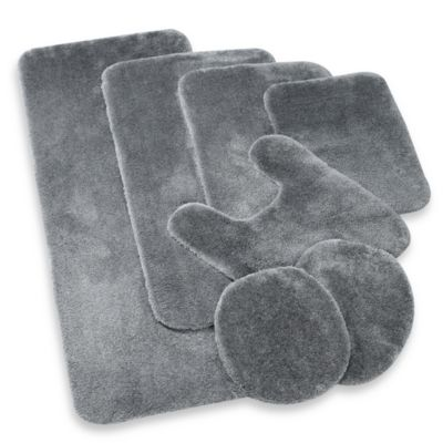 Wamsutta® Duet 2-Foot x 5-Foot Bath Rug in Pewter