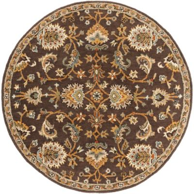 Artistic Weavers Middleton Mallie 6-Foot Round Area Rug in Brown
