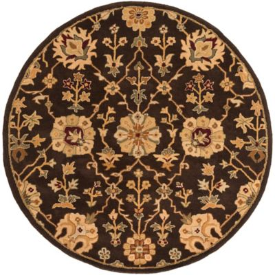 Artistic Weavers Middleton Allison 3-Foot 6-Inch Round Area Rug in Brown