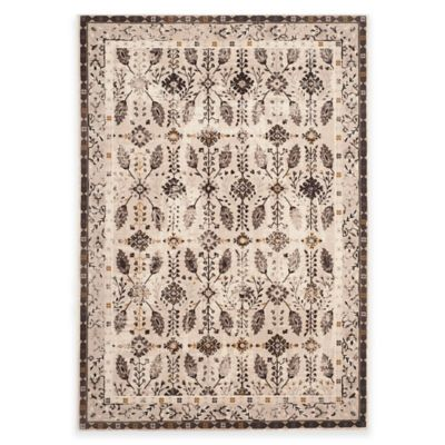 Safavieh Serenity Collection Iris 5-Foot 1-Inch x 7-Foot 6-Inch Area Rug in Cream/Brown