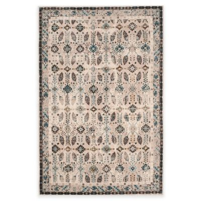 Safavieh Serenity Collection Iris 8-Foot 6-Inch x 12-Foot Area Rug in Cream/Turquoise