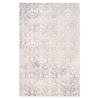 Luxury Lavender Amp Gray Stripz Rug