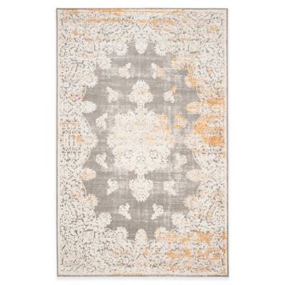 Safavieh Passion Cordelia 9-Foot x 12-Foot Area Rug in Grey/Ivory