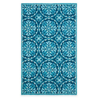 Safavieh Four Seasons Medallion 8-Foot x 10-Foot Indoor/Outdoor Area Rug in Green/Brown