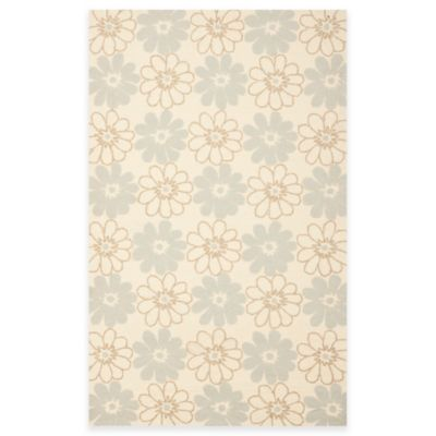 Safavieh Four Seasons Daisy 3-Foot 6-Inch x 5-Foot 6-Inch Indoor/Outdoor Area Rug in Blue/Ivory