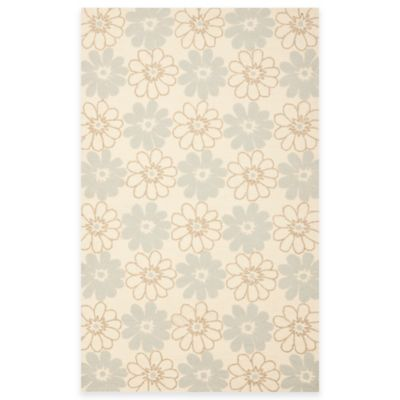 Safavieh Four Seasons Daisy 5-Foot x 8-Foot Indoor/Outdoor Area Rug in Blue/Ivory