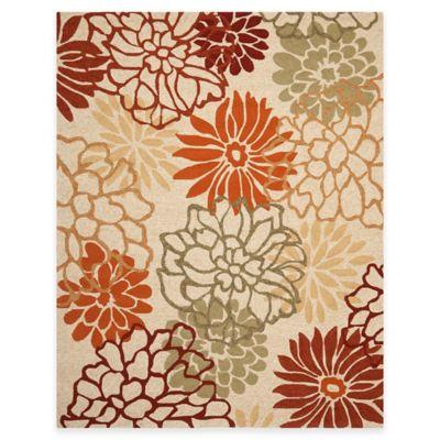 Safavieh Four Seasons Burst Floral 3-Foot 6-Inch x 5-Foot 6-Inch Indoor/Outdoor Rug in Beige/Multi