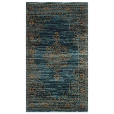 Safavieh Serenity Toby 4-Foot x 6-Foot Area Rug in Turquoise/Gold