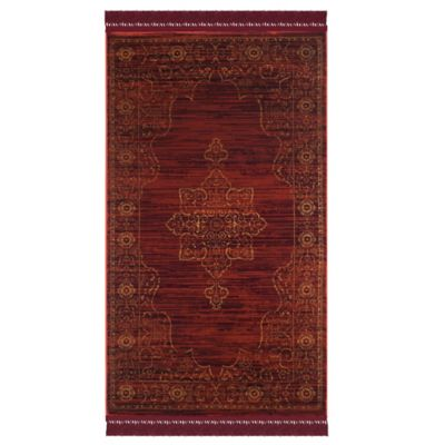 Safavieh Serenity Toby 4-Foot x 6-Foot Area Rug in Ruby/Gold