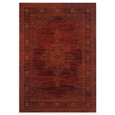 Safavieh Serenity Toby 8-Foot x 10-Foot Area Rug in Ruby/Gold