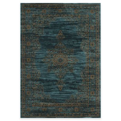 Safavieh Serenity Toby 8-Foot x 10-Foot Area Rug in Turquoise/Gold