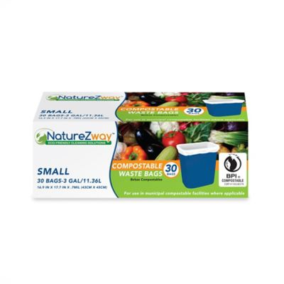 NatureZway™ 30-Pack 3-Gallon Compostable Waste Bags