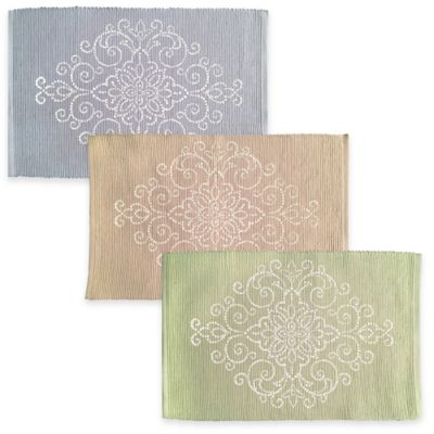 Lenox® French Perle Charmed Scroll Placemat in Linen