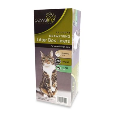 PawsLife™ 20-Count Jumbo Drawstring Litter Box Liners