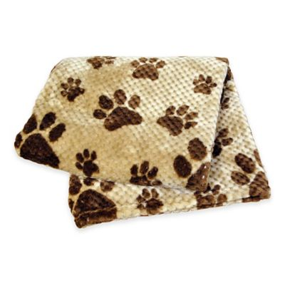 Pawslife™ Pebble Paws Jaquard Pet Blanket in Tan/Brown