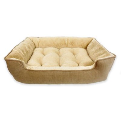 Paws Life™ Memory Foam Lounger Pet Bed in Brown