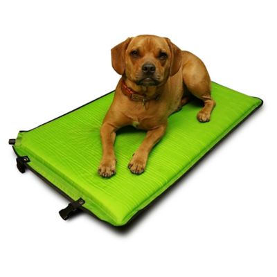 Puff-Pad Self-Inflating Travel Dog Bed in Green