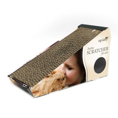 Zip Kitty™ Inclined Cat Scratcher in Brown