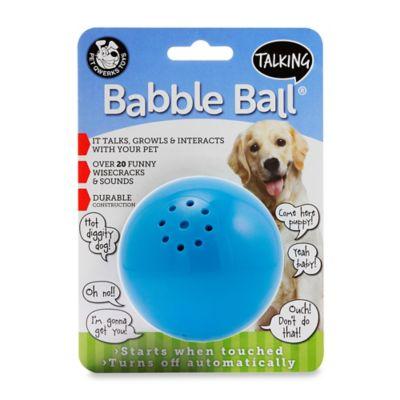 Talking Babble Ball Medium Pet Toy in Blue