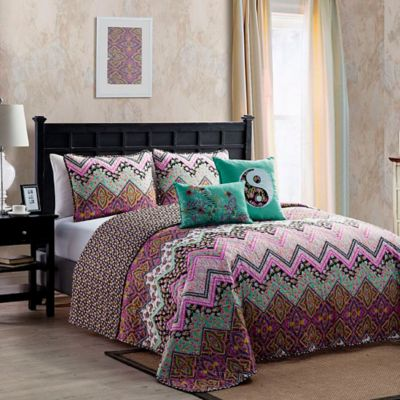 VCNY Chelsea Reversible Twin Quilt Set