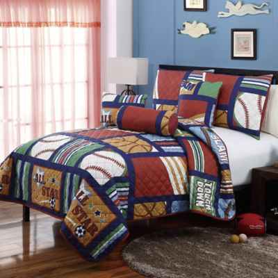 VCNY All Stars 5-Piece Twin Quilt Set in Blue