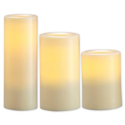 Loft Living Flameless Outdoor Pillar Candles (Set of 3)