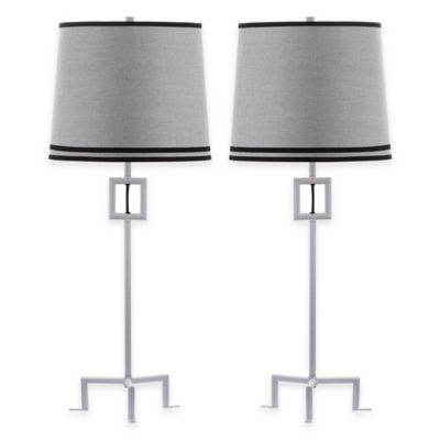 1-Light Black Table Lamp