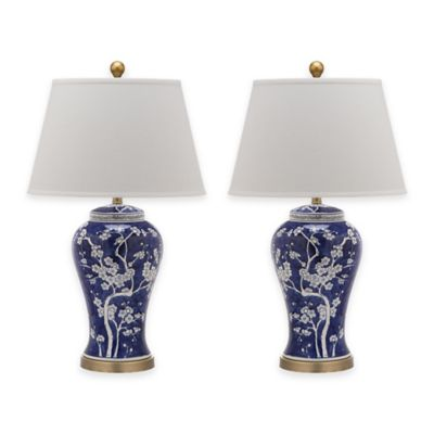 Safavieh Spring Blossom Table Lamp in Navy