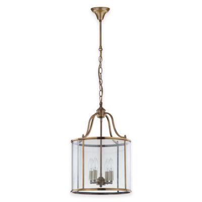 Safavieh Sutton Place Medium Pendant Light in Brass