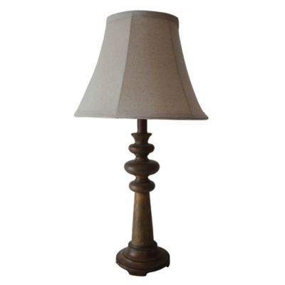 Fangio Lighting Resin Table Lamp in Antique Brown