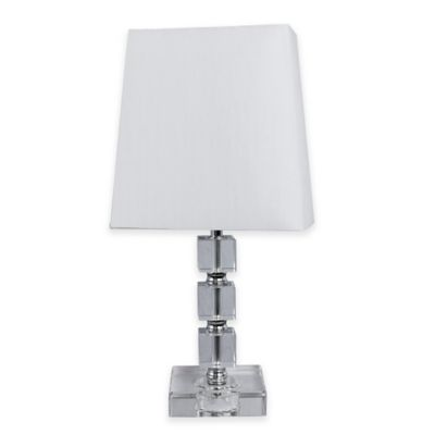 Fangio Lighting Crystal Table Lamp with Chrome Accents