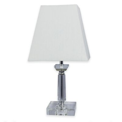 Fangio Lighting Crystal and Metal Table Lamp in Chrome