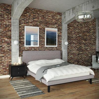 Modway Bethany 2-Piece Queen Bedroom Set in Black/Brown