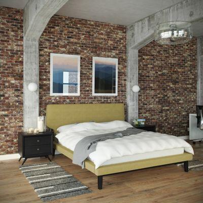 Modway Bethany 3-Piece Queen Bedroom Set in Black/Brown