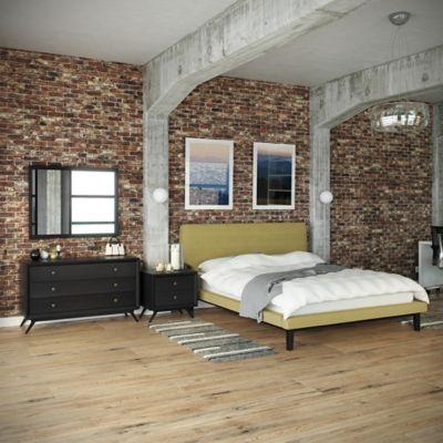 Modway Bethany 4-Piece Queen Bedroom Set in Black/Brown