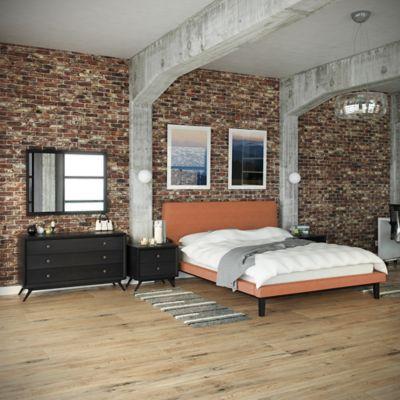 Modway Bethany 5-Piece Queen Bedroom Set in Black/Brown