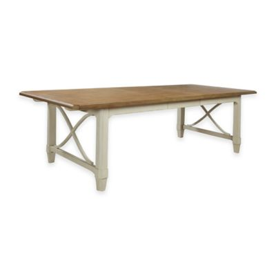 Panama Jack Millbrook Dining Table in White/Brown