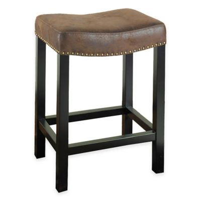 Amy 26-Inch Backless Stationary Barstool in Wrangler Brown