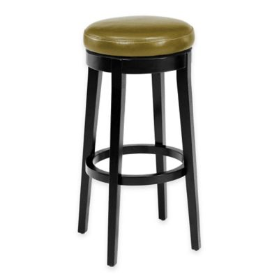 Stanton 30-inch Swivel Backless Barstool in Wasabi