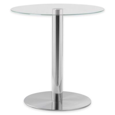 Kenroy Home Turner Accent Table in Stainless Steel