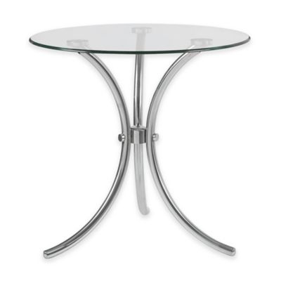 Kenroy Home Trio Accent Table in Stainless Steel