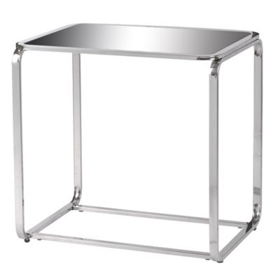 Kenroy Home Duo Accent Table in Black/Stainless Steel
