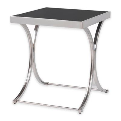 Kenroy Home Apertif Accent Table in Stainless Steel