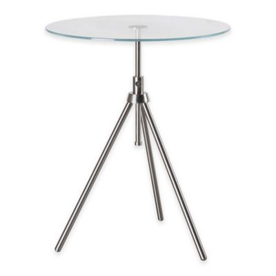Brushed Steel Accent Table