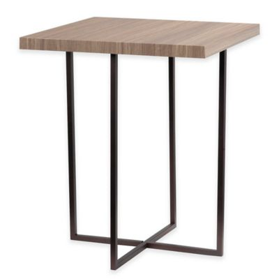 Kenroy Home Cronin Accent Table in Satin Bronze